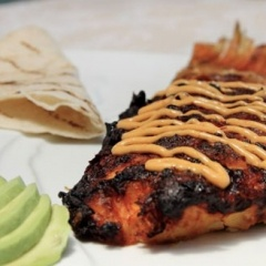 Pescado a la Talla Tacos with a Chipotle Rouille Recipe