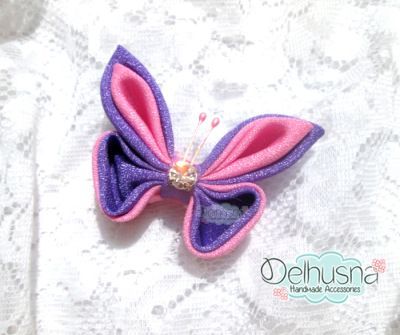 Awesome Kanzashi Butterfly Brooch From Delhusna Handmade   We ship world wide  Price : IDR 30.000/pc  From Pekanbaru Indonesia  PIN BB : 7452E353 WA : +62857-6757-9044 Line : delhusnahandmade email : delhusnahandmade@gmail.com