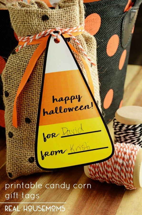 Handmade Halloween gift tags Candy corn tags candycorn favor tags candy corn party favor tags candy corn treat tags halloween goody bag tags