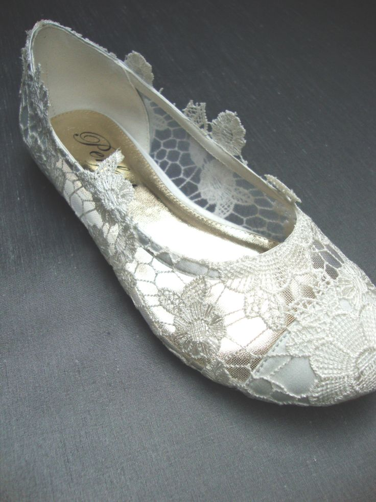 flat lace bridal shoes - photo #14