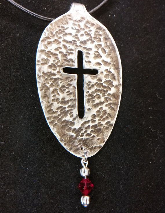 Check out this item in my Etsy shop https://www.etsy.com/listing/262945457/antique-silver-spoon-cross-pendant