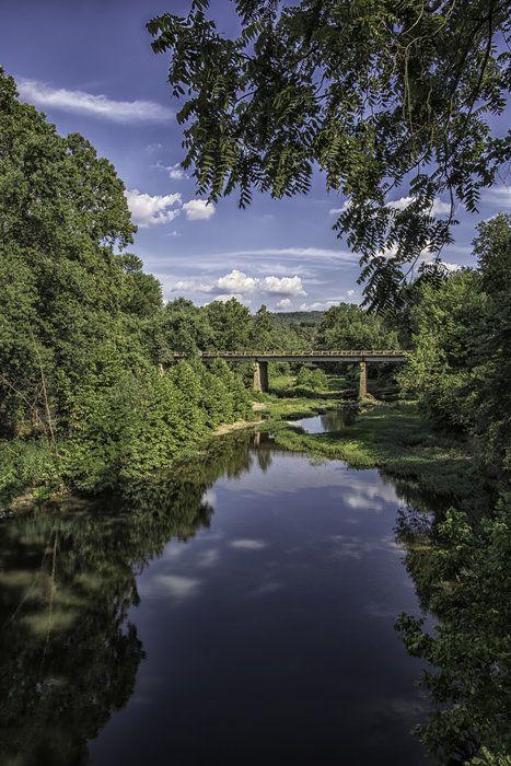 Bridge - on Hwy 412 just east of Huntsville, Arkansas.  by Michael Buffington