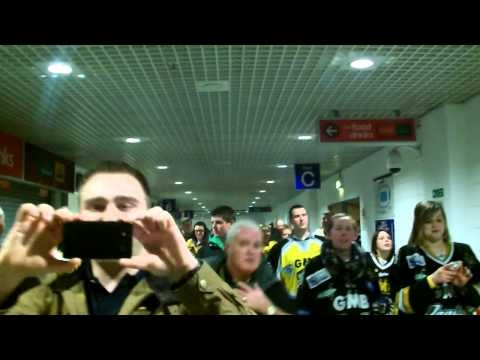 Very, very happy Nottingham Panthers fans still celebrating after winning the 2012 - 2013 Elite Ice Hockey League Championship in Belfast as the weekend. Lets Go Panthers.
