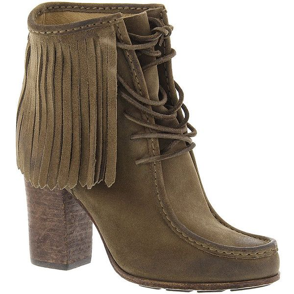 Frye Company Parker Fringe Short Boot (695 BRL) ❤ liked on Polyvore featuring shoes, boots, ankle booties, sapatos, grey, frye bootie, fringe bootie, frye boots, grey fringe boots and gray booties