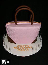 Cake Ninja, Cake Decorating Brisbane | CELEBRATION CAKES  www.cakeninja.com.au handbag cake pink brown