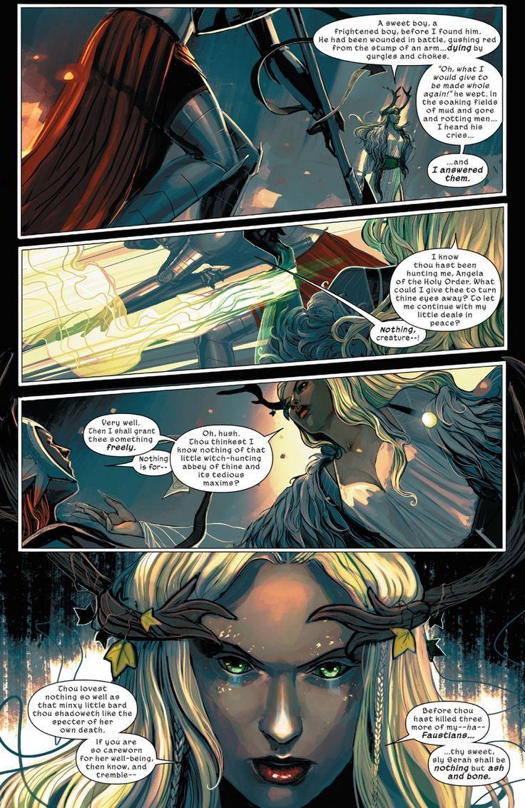 Angela (FAUSTIA) and Amora (The ENCHANTRESS) | Earth 311 | PORTFOLIO: Marvel 1602