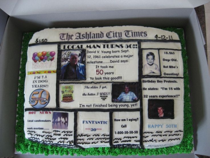 Cake Ideas For 50th Birthday For A Male : Funny Cake Ideas For 50th Birthday Photograph 50th ...