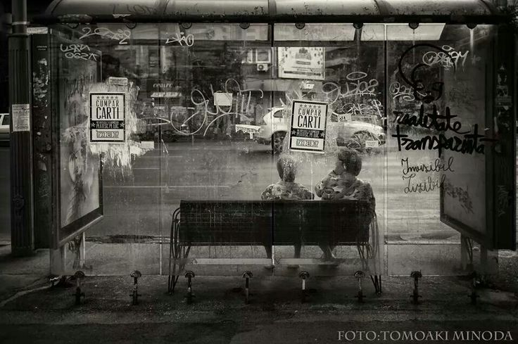 Bucharest bus stop. Photo credits: Tomo Minoda
