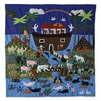 Noah and his Ark - In applique