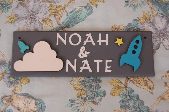 Space Rocket Personalised Door Name Sign Plaque plate. Space