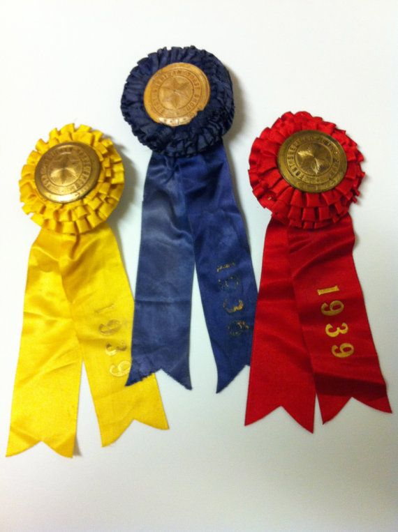 Three Vintage Horse Show Ribbons by ShopWhitePicketFence on Etsy, $18.95