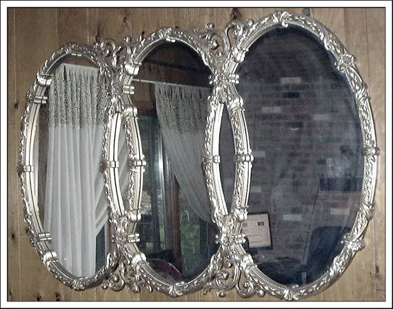 Large Ornate Wall Or Leaning Mirror Hollywood Regency