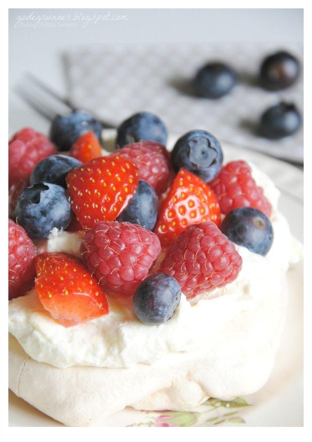 gode grunner: Pavlova -verdens beste kake