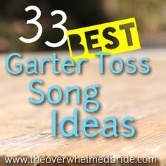 The 33 top garter toss songs, on the blog!