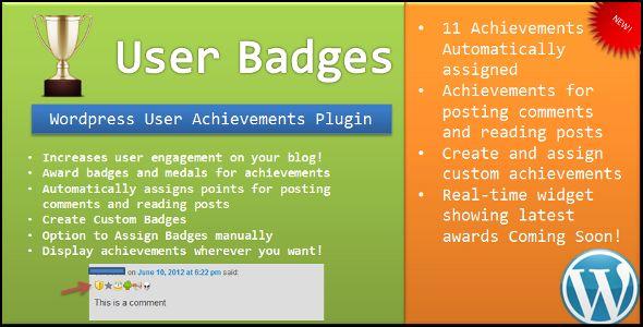 User Badges : WP User Achievements Plugin