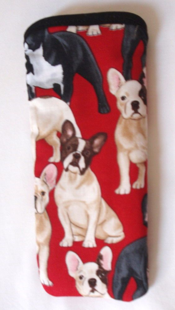 BN- FRENCH BULLDOGS   GLASSES CASE Ideal small gift
