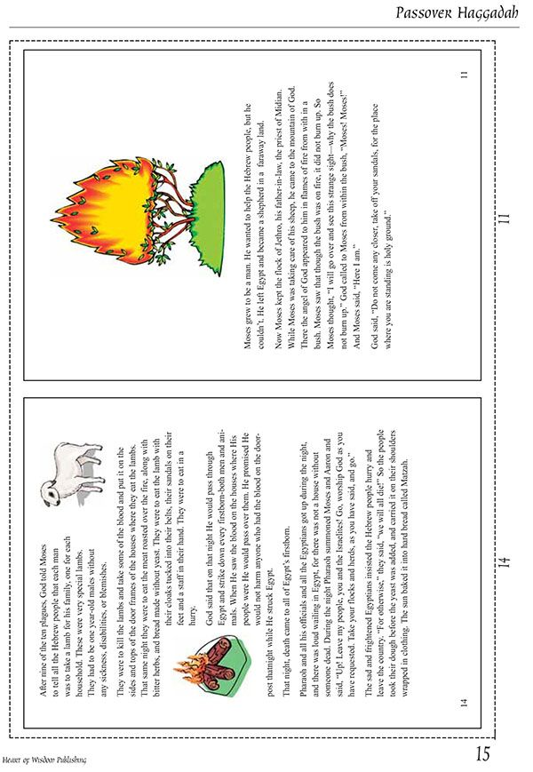 Monster image within printable haggadah free