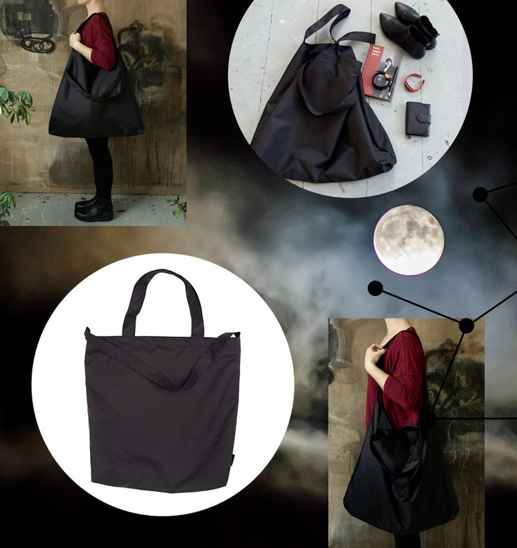 Minimalistic black bags and purses for daily use.