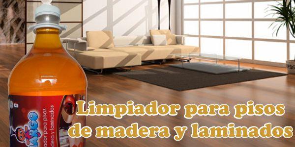 Limpiador para pisos de Madera y Laminados MARGO. Es la mejor solución para limpiar y cuidar cualquier tipo de piso de madera y laminado.