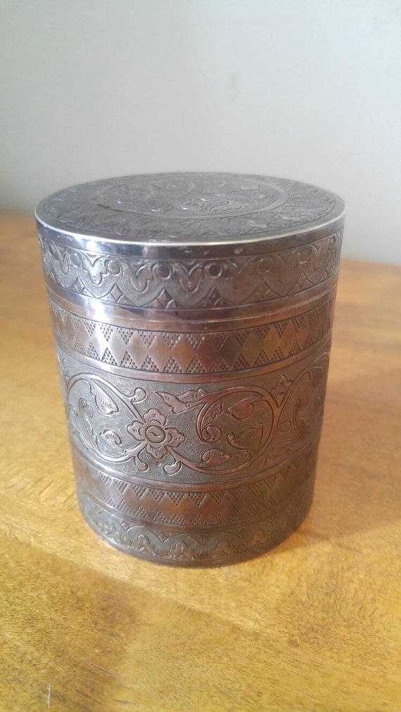 Hey, I found this really awesome Etsy listing at https://www.etsy.com/ca/listing/464927661/rare-vintage-brunei-silver-box-tobacco