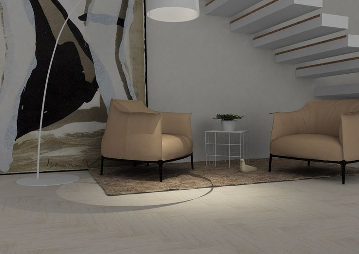 Loft livingroom, virtual image, rendered with DomuS3D® 2017 and V-Ray