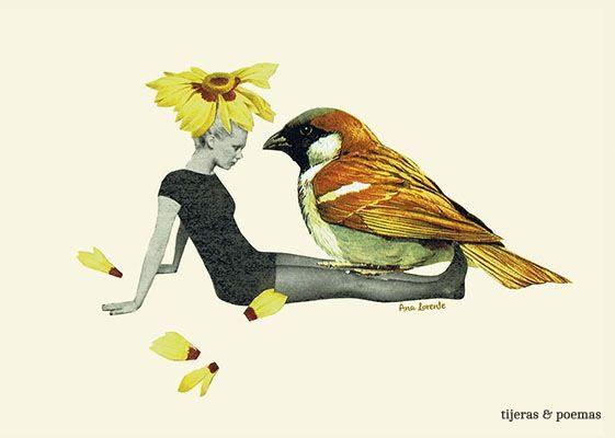 Collage Margarita by Tijeras y Poemas (Ana Lorente).  #collage #tijerasypoemas