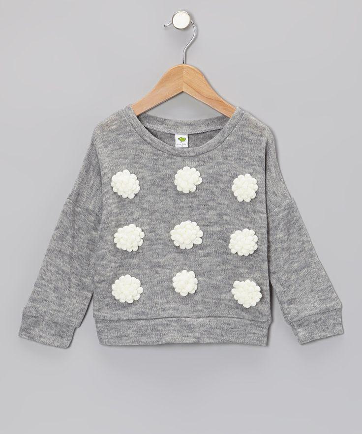 Gray Flower Sweater
