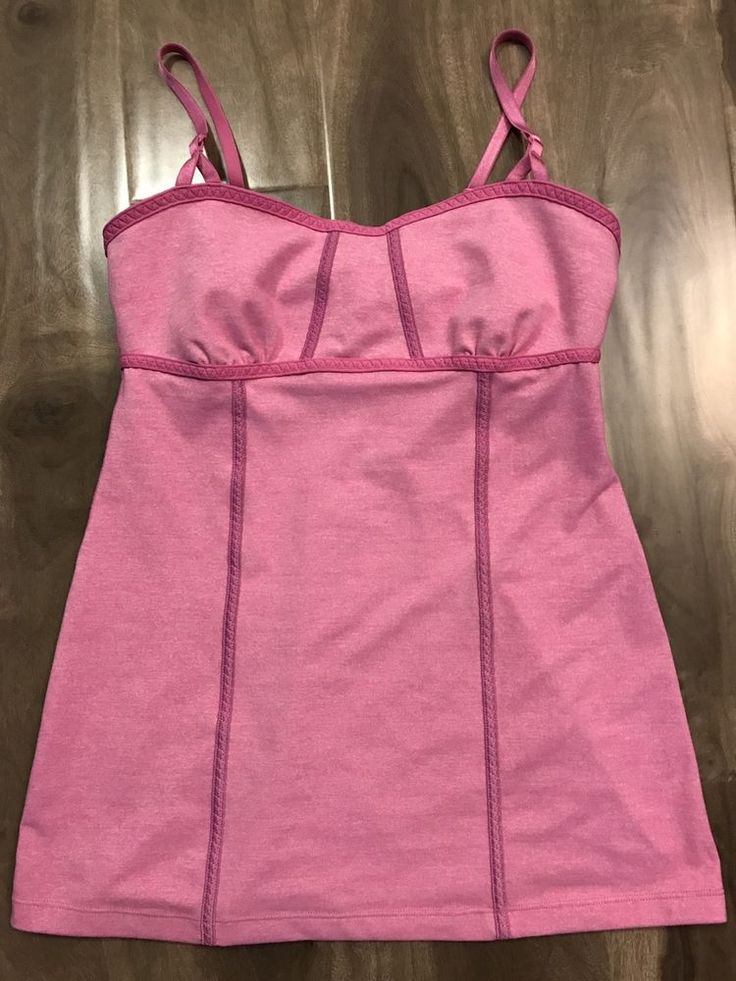 Lululemon Women s SZ 6 Small Pink Tank Top Sleeveless Built In Shelf Bra | eBay