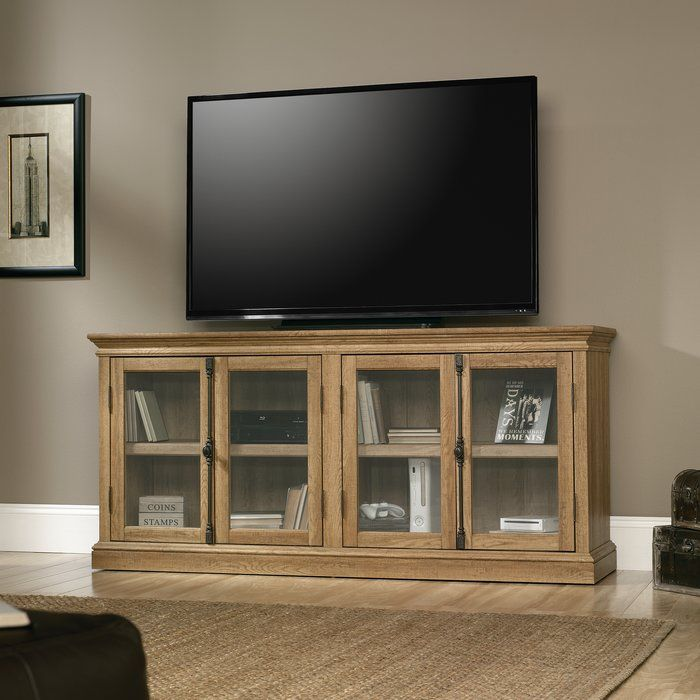 Sauder Barrister Lane Storage Credenza TV Stand 78 Salt Oak