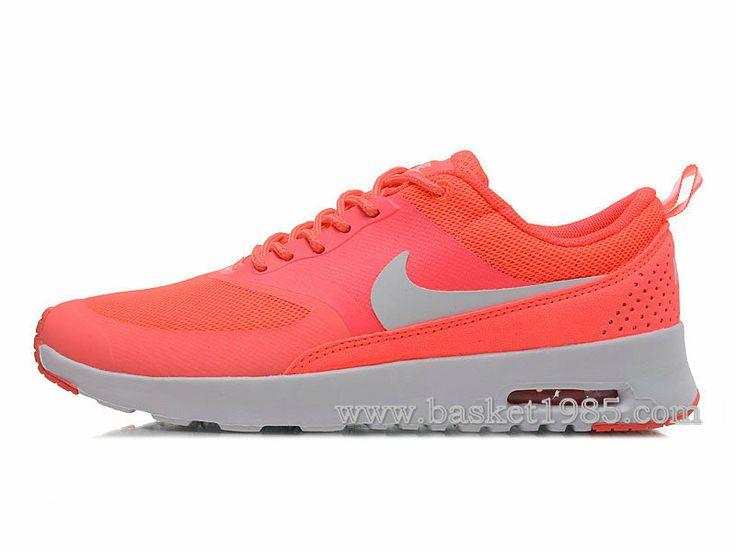 nike air max thea femme sport chaussures saumon rose blanche
