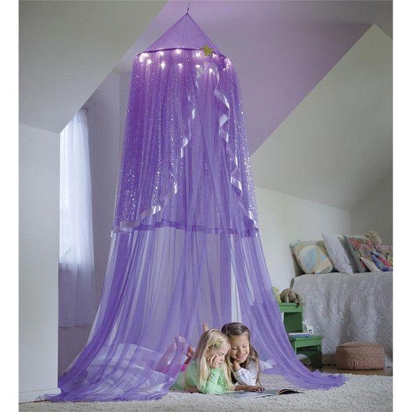LED Light Up Purple Princess Canopy. Girl Bedroom DecorationsGirl ...