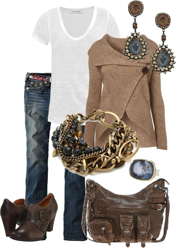 Love the brown sweater!: Shoes, Women Fashion, Falloutfit, Sweaters, Summer Outfit, Fall Outfit, Accessories, Cute Clothing, Summer Clothing