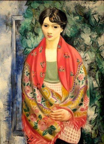 Moise Kisling: femme au châle polonais, 1928.