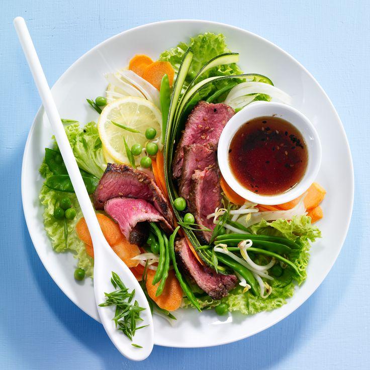 Salade de bœuf aux légumes primeurs
