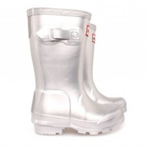 Silver Wellies - now that's a rain boot!