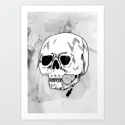 skull Art Print by Júlio Dolbeth - $19.00