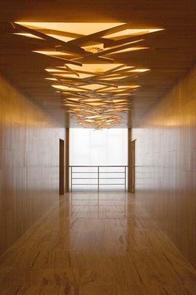Lightening Up A Wood Paneled Room: Wood Interior Glimpse Ceiling