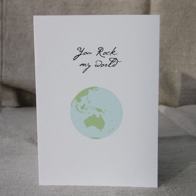 I'm selling You Rock My World Card - A$3.00 #onselz