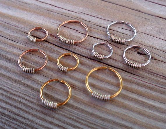 SeamlessEndless Septum Ring Wrapped  by PavlosHandmadeStudio
