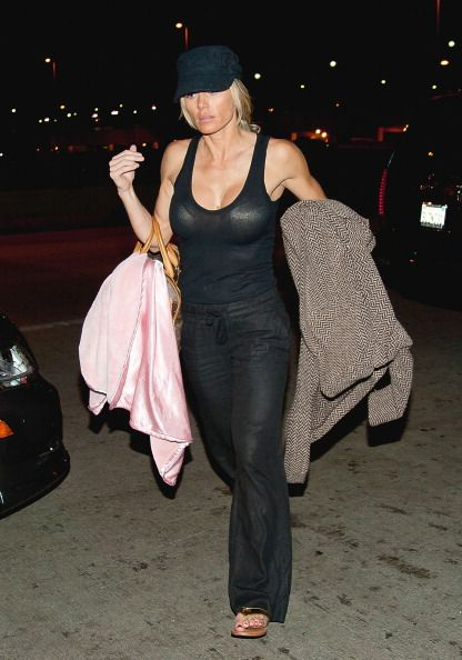 Torrie Wilson is seen at Los Angeles International Airport on February 08 2012 in Los Angeles California