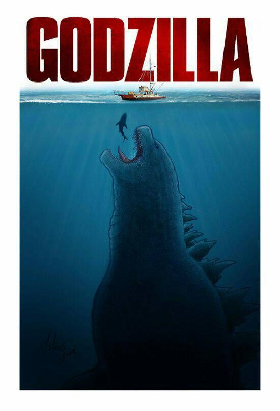 Godzilla versus Jaws
