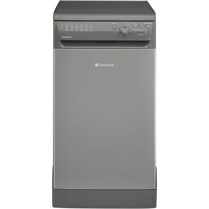 Hotpoint SIAL11010G 10 Place Slimline Freestanding Dishwasher Graphite