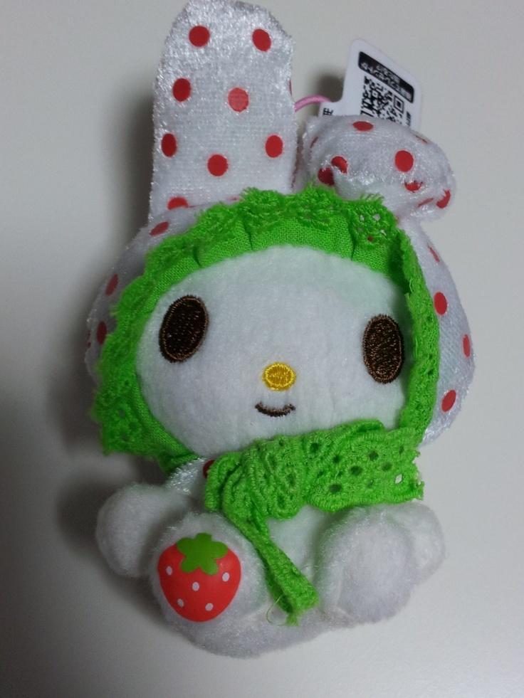 JPLand Stuff - Sanrio My Melody Frilly Strawberry Plush Strap (White), $9.99 (http://www.jplandstuff.com/sanrio-my-melody-frilly-strawberry-plush-strap-white/)