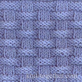 Basket (Wicker) Stitch Pattern 2, knitting pattern chart, Squares, Diamonds, Basket Stitch Patterns
