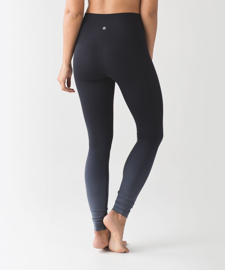 These versatile, high-rise  pants were designed to fit  like a second skin—perfect for  yoga or the gym