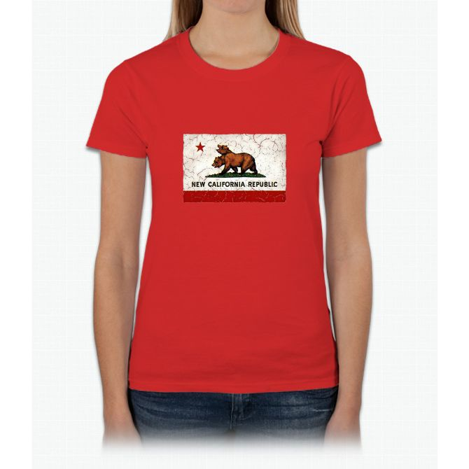 New California Republic Flag Womens T-Shirt