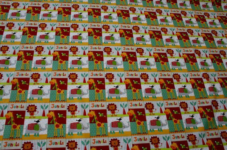 Spuntano nuovi come gemme, colorati come fiori, con l'allegria e la promessa di divertimento della #primavera...   sono i nostri nuovi #tessuti da #bambino!  Iniziamo con questa simpatica fantasia con leoncini, giraffe, pappagalli, tucani, elefanti.. una Giungla sorridente in puro #cotone 100%.  http://www.radicifabbrica.it/prodotto/stoffa-bambini-disegno-giungla/