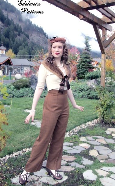 Butterick 5859 Pattern Review 1940s outfit