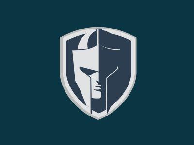 helmet and shield logo