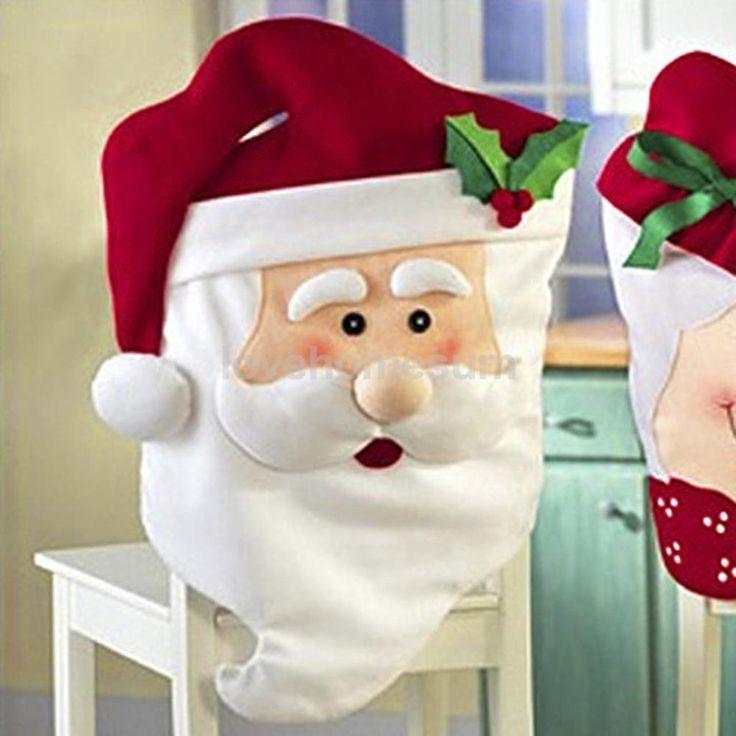 Babbo Natale Coprisedia Decorazioni Sala Da Pranzo Addobbi Feste Natale